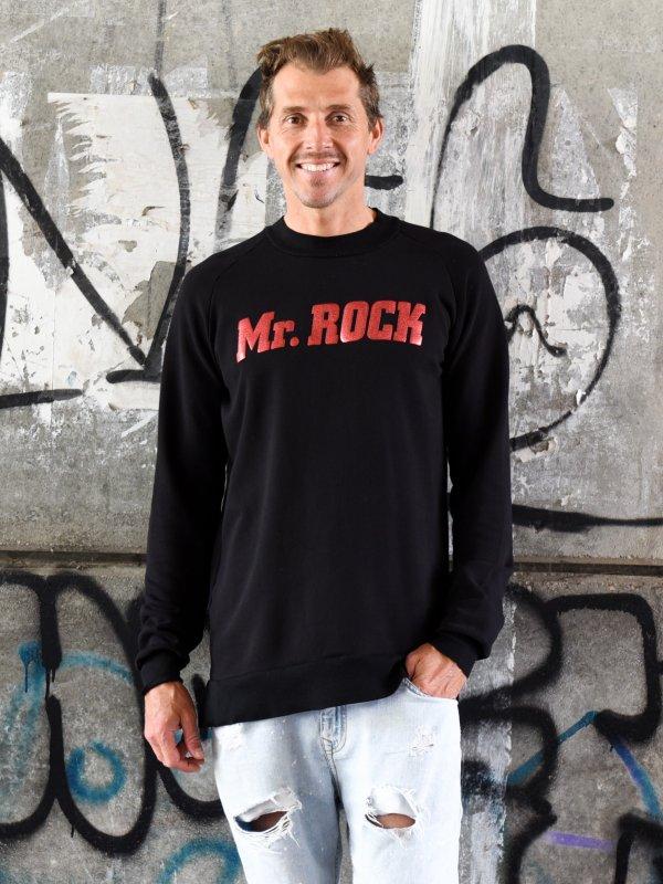 """SUDADERA UNISEX """"MR ROCK"""" NEGRA"""