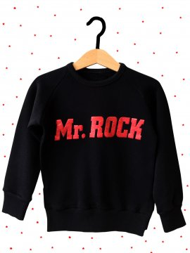 "SUDADERA BABY ""MR. ROCK"" NEGRA"