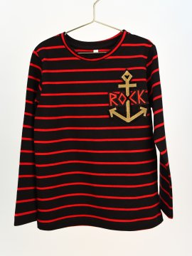 "CAMISETA BABY BORDADA ""ANCLA ROCK"""