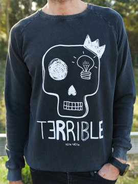 SUDADERA UNISEX TERRIBLE PERO SENSIBLE FADE OUT