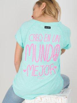CAMI CREO EN UN MUNDO MEJOR TURQUESA