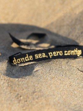 PULSERA ''DONDE SEA PERO CONTIGO'' NEGRA