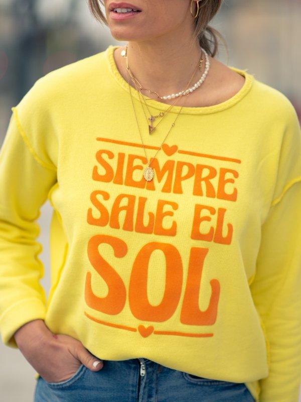 """SUDADERA """"SALE EL SOL"""" T.U"""