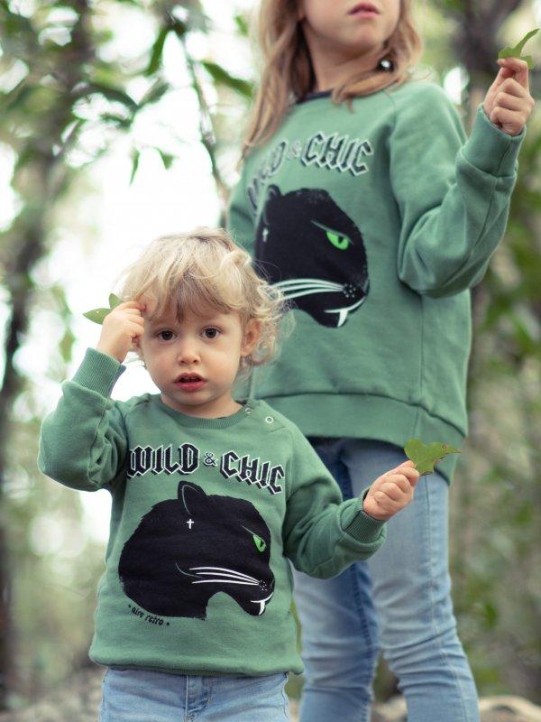 """SUDADERA BABY """"WILD & CHIC"""""""